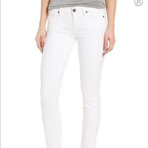 Paige Skyline Ankle Peg White Jeans